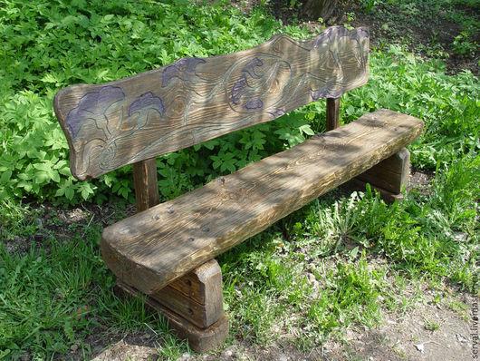 Мебель ручной работы. Ярмарка Мастеров - ручная работа. Купить скамья садовая. Handmade. Коричневый, мебель для беседки