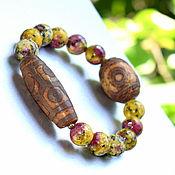 Украшения handmade. Livemaster - original item Bracelet genuine Jasper with DZI beads. Handmade.