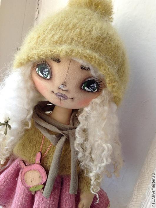 Коллекционные куклы ручной работы. Ярмарка Мастеров - ручная работа. Купить Вероника. Handmade. Оливковый, кукла ручной работы, для интерьера