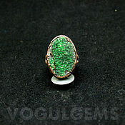 Украшения handmade. Livemaster - original item Copper ring with uvarovite. Ring with green garnet. Handmade.