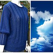 """Одежда ручной работы. Ярмарка Мастеров - ручная работа Пуловер вязаный  """" Синева"""". Handmade."""