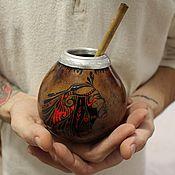 """Посуда ручной работы. Ярмарка Мастеров - ручная работа Калабас """" Племя Амазонии"""". Handmade."""