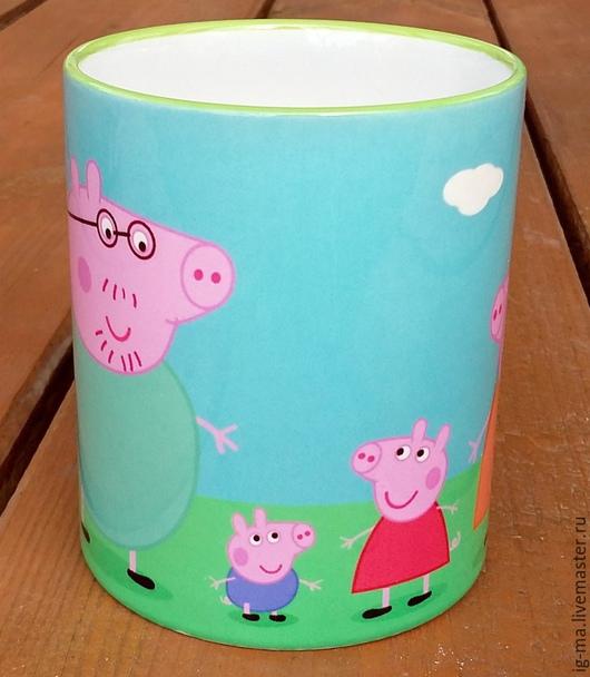 Кружки и чашки ручной работы. Ярмарка Мастеров - ручная работа. Купить Кружка Свинка Пэппа. Handmade. Разноцветный, кружка в подарок