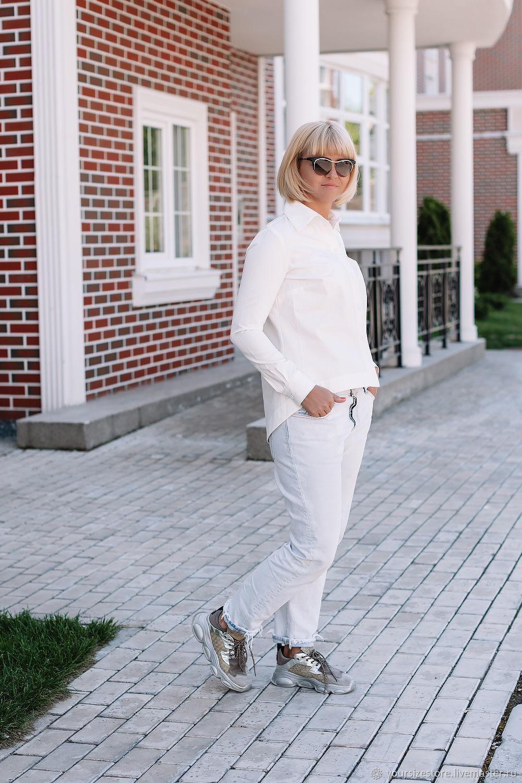 Shirt: White shirt from German cotton, Shirts, Tolyatti,  Фото №1