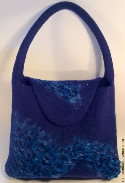 Женские сумки ручной работы. Ярмарка Мастеров - ручная работа. Купить Сумка валяная Водопад. Handmade. Сумка на каждый день