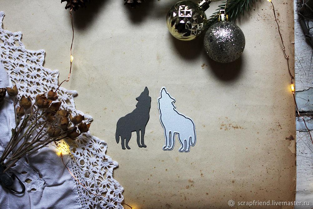 Нож для вырубки Волк, 3,5х6см, Scrapfriend, Инструменты для скрапбукинга, Санкт-Петербург,  Фото №1