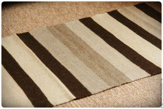 Текстиль, ковры ручной работы. Ярмарка Мастеров - ручная работа. Купить Домотканый коврик-полосатик. Handmade. Домотканый коврик, разноцветный