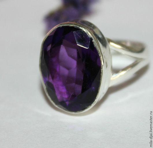 """Кольца ручной работы. Ярмарка Мастеров - ручная работа. Купить Кольцо""""Виолетта-3"""" аметист 20%. Handmade. Натуральные камни"""