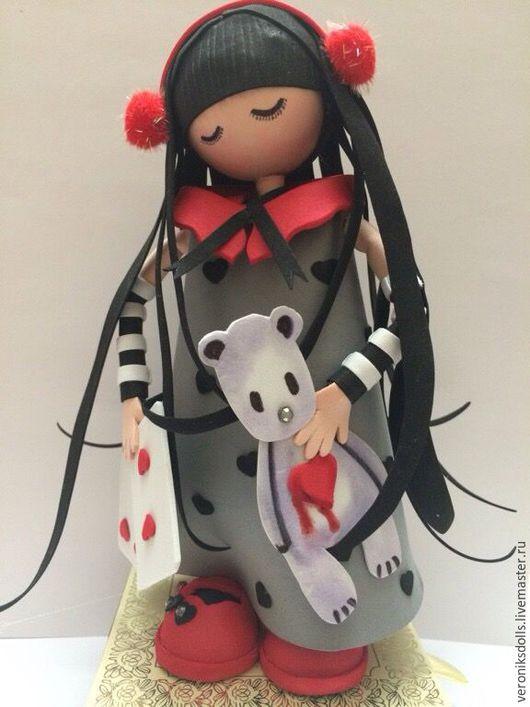Коллекционные куклы ручной работы. Ярмарка Мастеров - ручная работа. Купить Кукла из фоамирана. Handmade. Серый, кукла в подарок