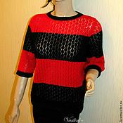 """Одежда ручной работы. Ярмарка Мастеров - ручная работа Вязаный женский пуловер """"Magic"""". Handmade."""