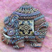 """Украшения ручной работы. Ярмарка Мастеров - ручная работа брошь """"Слон"""". Handmade."""
