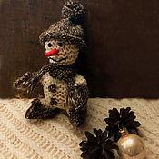 Мягкие игрушки ручной работы. Ярмарка Мастеров - ручная работа Снеговик вязаный. Handmade.