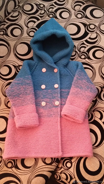 Одежда для девочек, ручной работы. Ярмарка Мастеров - ручная работа. Купить Кардиган-пальто на девочку. Handmade. Кардиган спицами