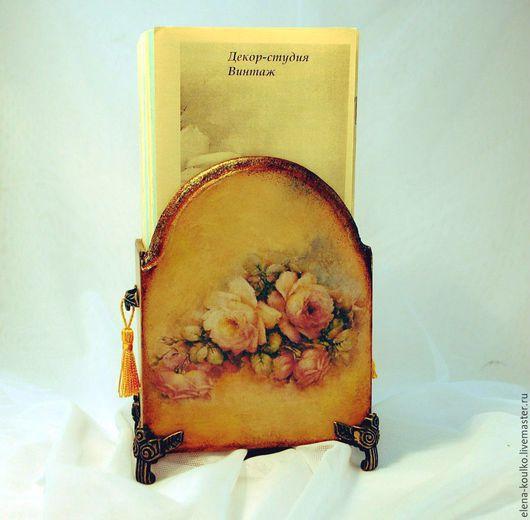 """Карандашницы ручной работы. Ярмарка Мастеров - ручная работа. Купить Подставка-карандашница """"Винтажные розы"""". Handmade. Оранжевый, подарок женщине"""