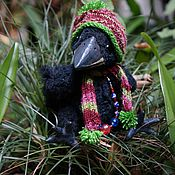 Куклы и игрушки ручной работы. Ярмарка Мастеров - ручная работа вороненок тедди. Handmade.