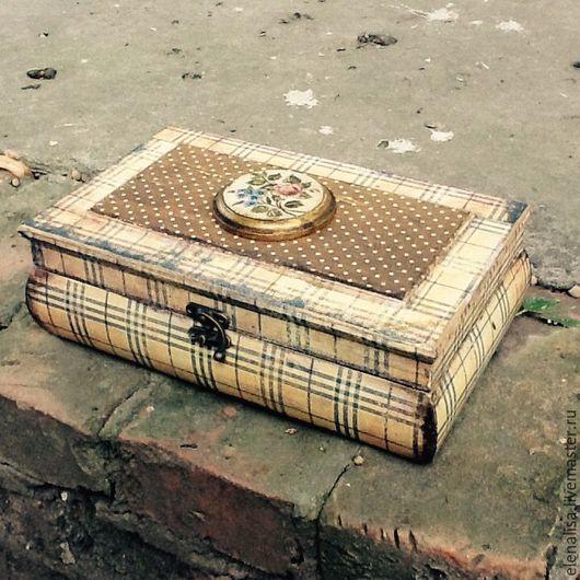 """Шкатулки ручной работы. Ярмарка Мастеров - ручная работа. Купить Ларец """"Клетчатый"""" коробка большая. Handmade. Шкатулка, подарок девушке"""