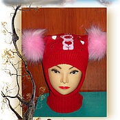 Работы для детей, ручной работы. Ярмарка Мастеров - ручная работа Шапка-шлем для девочки. Handmade.