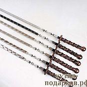Дача и сад handmade. Livemaster - original item Skewers with forged handle. Handmade.