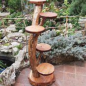 Для дома и интерьера handmade. Livemaster - original item stand for flowers made of wood. Handmade.