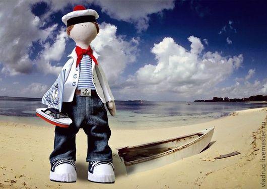 Коллекционные куклы ручной работы. Ярмарка Мастеров - ручная работа. Купить Морячок Марсель. Handmade. Авторская ручная работа