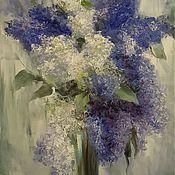 Картины и панно handmade. Livemaster - original item A bouquet of lilacs. Oil painting.. Handmade.