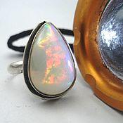 Украшения handmade. Livemaster - original item Silver ring with opal (Australia). Handmade.