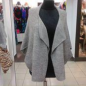 Одежда ручной работы. Ярмарка Мастеров - ручная работа кардиган бохо серого цвета. Handmade.