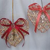 """Подарки к праздникам ручной работы. Ярмарка Мастеров - ручная работа подвес """"Сердце с ключиком"""". Handmade."""