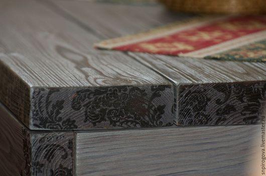 Мебель ручной работы. Ярмарка Мастеров - ручная работа. Купить Стол для гостиной (веранды). Handmade. Серый, мебель ручной работы