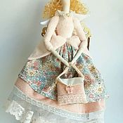 """Куклы и игрушки ручной работы. Ярмарка Мастеров - ручная работа Кукла тильда. Ангел """"Пелагея """". Handmade."""