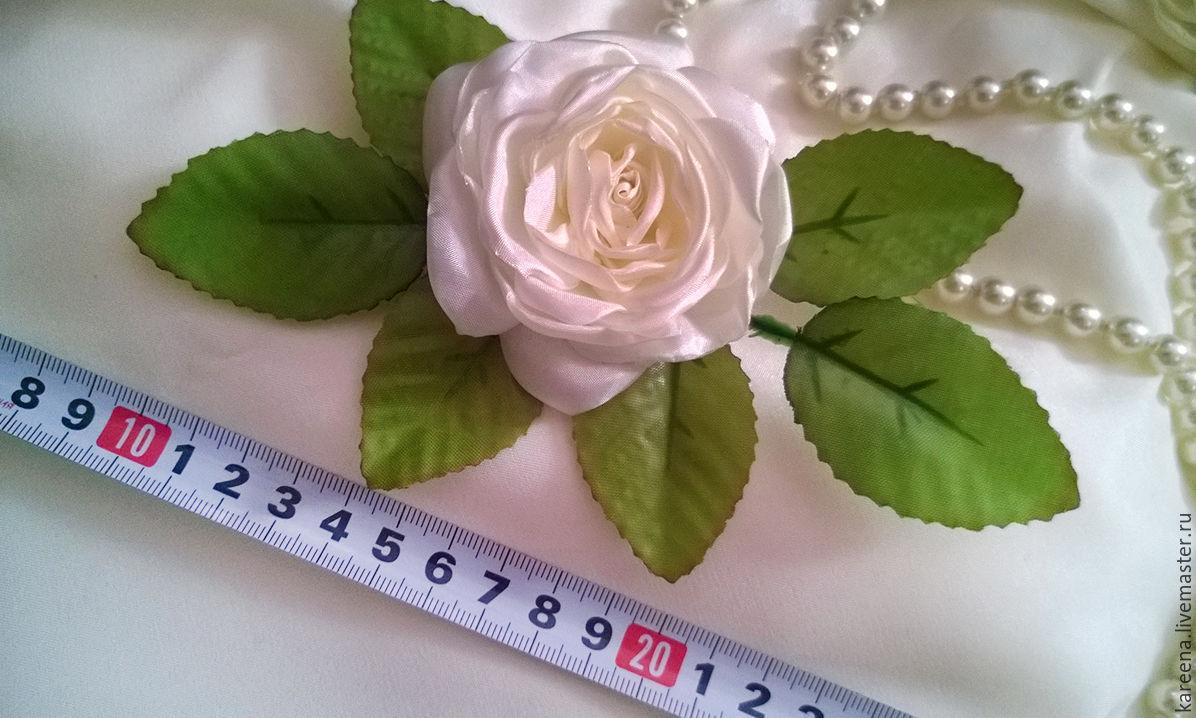 Как сделать розу из шелка своими руками видео
