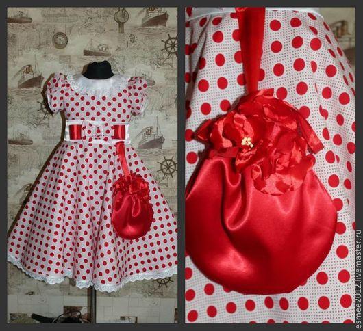 Одежда для девочек, ручной работы. Ярмарка Мастеров - ручная работа. Купить Платье для девочки в горошек. Handmade. В горошек