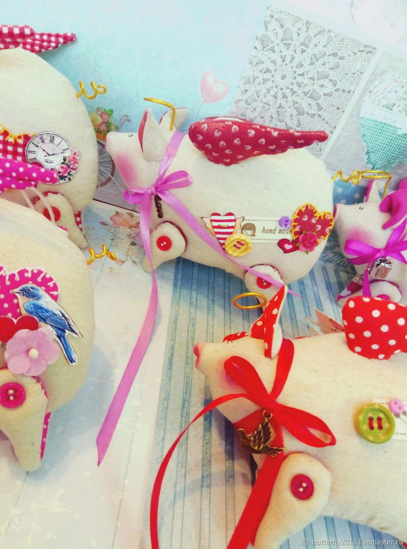 Свинка-валентинка )   подвесной сувенир, Тильды, Воркута, Фото №1