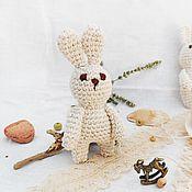 Куклы и игрушки ручной работы. Ярмарка Мастеров - ручная работа Зайчик малютка бежевый. Handmade.
