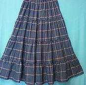 Одежда ручной работы. Ярмарка Мастеров - ручная работа Юбка из хлопка Шотландка длинная. Handmade.