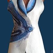 """Одежда ручной работы. Ярмарка Мастеров - ручная работа Жилет """"Ветер средиземноморья"""". Handmade."""