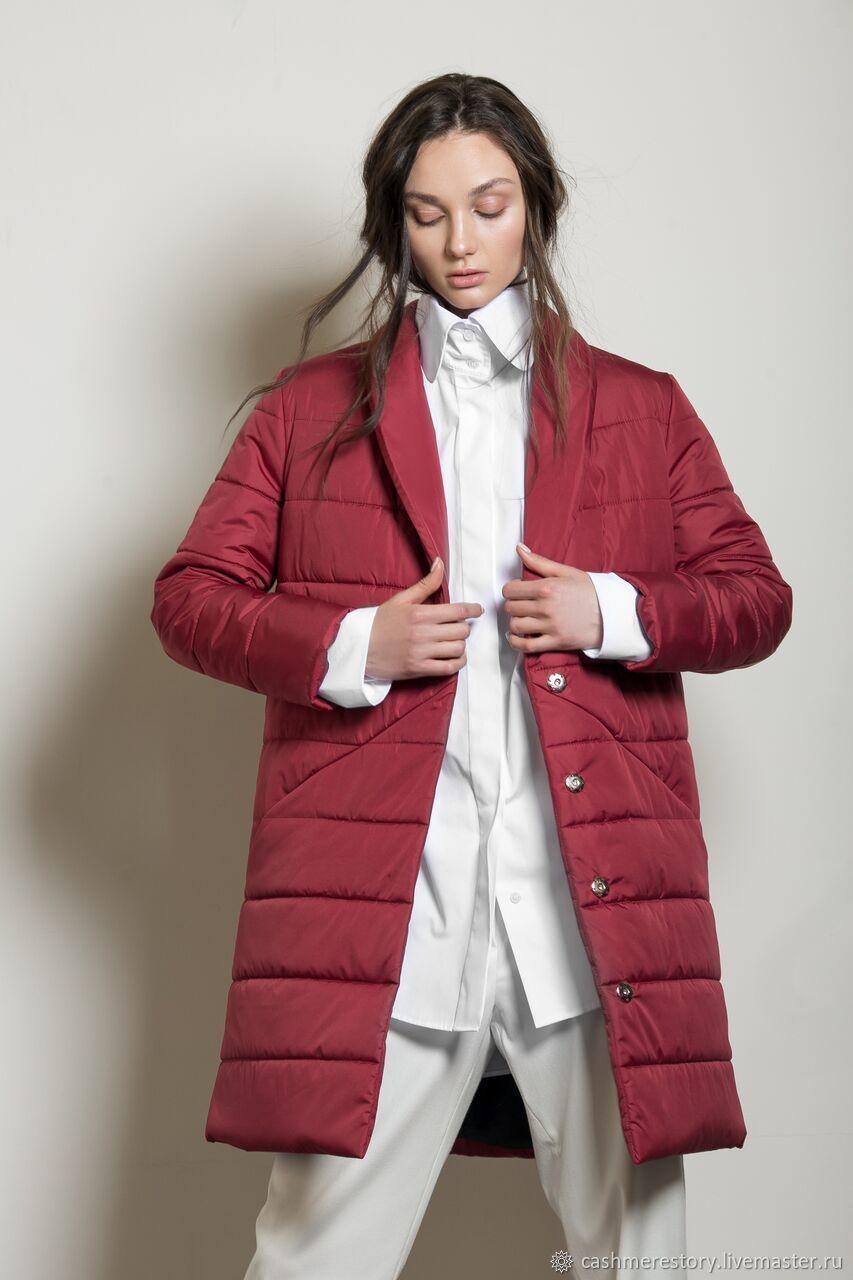 80a3b995f94 Верхняя одежда ручной работы. Ярмарка Мастеров - ручная работа. Купить  Пальто утепленное женское Red ...