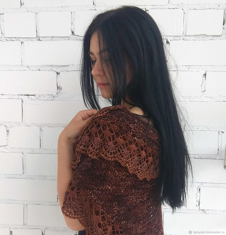 Knitted shawl ' Chocolate', Shawls, Naberezhnye Chelny,  Фото №1