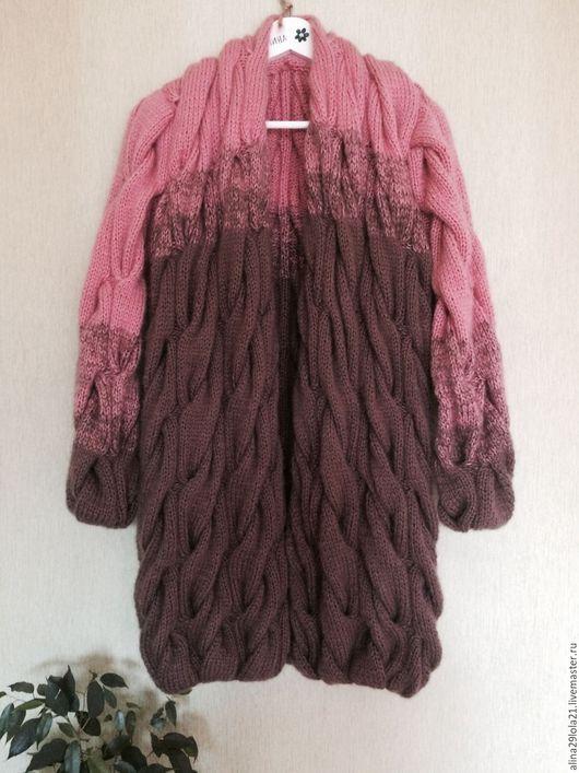 Кофты и свитера ручной работы. Ярмарка Мастеров - ручная работа. Купить Кардиган в стиле Лало (градиент из кос). Handmade. Комбинированный