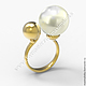Кольцо  золотые с жемчугом Изготовление на заказ