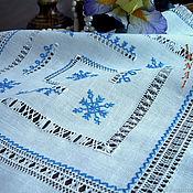 Для дома и интерьера handmade. Livemaster - original item Napkin 5 stars linen hand strojeva embroidery heirloom. Handmade.