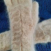 Аксессуары handmade. Livemaster - original item Gloves made out of dog Pooh. Handmade.