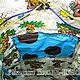 """Рюкзаки ручной работы. Детский текстильный рюкзак-торба """"Робот"""". Наталья-Небо. Ярмарка Мастеров. Торба робот, подклад, шнур"""