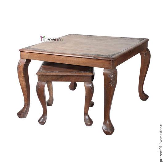 Мебель ручной работы. Ярмарка Мастеров - ручная работа. Купить Гарнитур из ореха, арт. 4005. Handmade. Коричневый, мебель из дерева