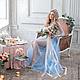 """Платья ручной работы. Ярмарка Мастеров - ручная работа. Купить Будуарное платье """"Голубое"""". Handmade. Свадебное платье, утро невесты"""