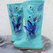 Обувь ручной работы handmade. Livemaster - original item Boots felted on the sole