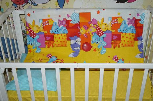 постельное белье детское, постельный комплект для детей, для малышей, комплект в детскую кроватку, для новорожденных