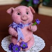 Куклы и игрушки ручной работы. Ярмарка Мастеров - ручная работа Поросенок из шерсти. Handmade.