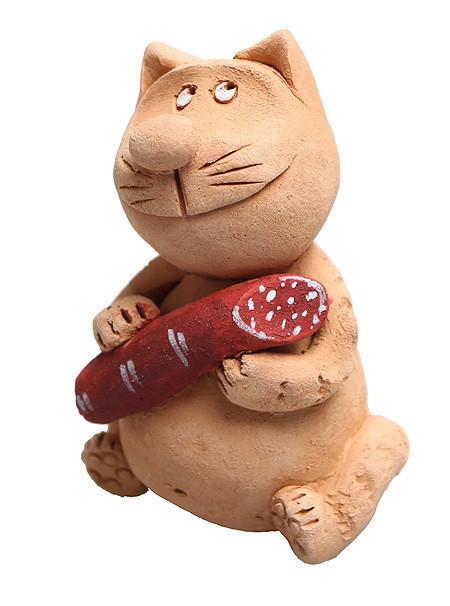 Куклы и игрушки ручной работы. Ярмарка Мастеров - ручная работа. Купить Люблю повеселиться, особенно поесть.... Handmade. Авторская керамика