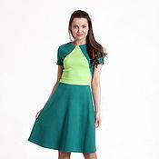Одежда ручной работы. Ярмарка Мастеров - ручная работа 071: повседневное платье из джерси, офисное платье на каждый день. Handmade.